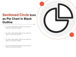 Sectioned Circle Icon As Pie Chart In Black Outline