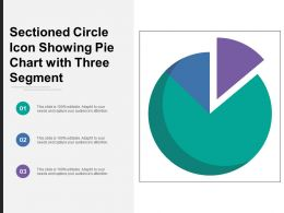 Sectioned Circle Icon Showing Pie Chart With Three Segment