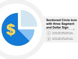 Sectioned Circle Icon With Three Segment And Dollar Sign