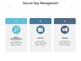 Secure App Management Ppt Powerpoint Presentation Gallery Images Cpb