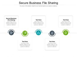 Secure Business File Sharing Ppt Powerpoint Presentation Pictures Elements Cpb
