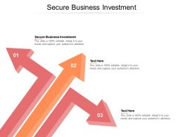 Secure Business Investment Ppt Powerpoint Presentation Layouts Skills Cpb