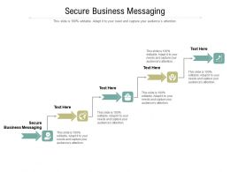 Secure Business Messaging Ppt Powerpoint Presentation Inspiration Graphics Design Cpb