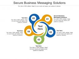 Secure Business Messaging Solutions Ppt Powerpoint Presentation File Background Cpb
