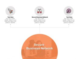 Secure Business Network Ppt Powerpoint Presentation Portfolio Graphic Images Cpb