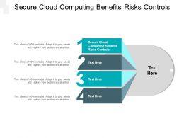 Secure Cloud Computing Benefits Risks Controls Ppt Powerpoint Presentation Professional Cpb