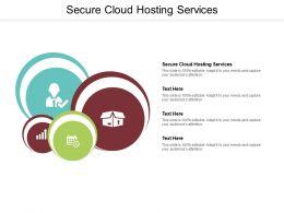 Secure Cloud Hosting Services Ppt Powerpoint Presentation Professional Portrait Cpb