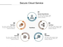 Secure Cloud Service Ppt Powerpoint Presentation Pictures Background Images Cpb