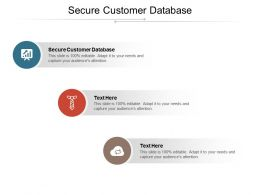 Secure Customer Database Ppt Powerpoint Presentation Inspiration Background Images Cpb