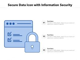 Secure Data Icon With Information Security