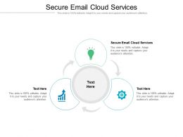 Secure Email Cloud Services Ppt Powerpoint Presentation Model Vector Cpb