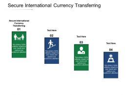 Secure International Currency Transferring Ppt Powerpoint Presentation Portfolio Cpb