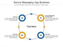 Secure Messaging App Business Ppt Powerpoint Presentation Infographics Ideas Cpb
