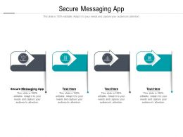 Secure Messaging App Ppt Powerpoint Presentation Layouts Gridlines Cpb