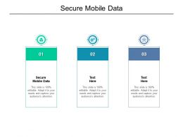 Secure Mobile Data Ppt Powerpoint Presentation Layouts Graphic Tips Cpb