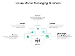 Secure Mobile Messaging Business Ppt Powerpoint Presentation Layouts Professional Cpb