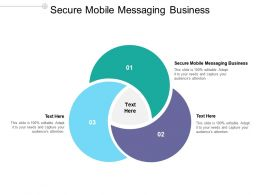 Secure Mobile Messaging Business Ppt Powerpoint Presentation Styles Maker Cpb