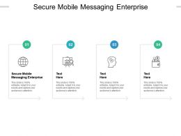 Secure Mobile Messaging Enterprise Ppt Powerpoint Presentation Styles File Formats Cpb