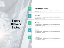 Secure Network Backup Ppt Powerpoint Presentation Model Demonstration Cpb