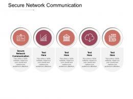 Secure Network Communication Ppt Powerpoint Presentation Slides Grid Cpb