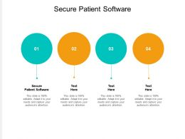 Secure Patient Software Ppt Powerpoint Presentation Layouts Display Cpb