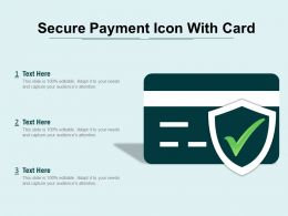Secure Payment Icon With Card
