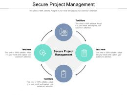 Secure Project Management Ppt Powerpoint Presentation Pictures Visuals Cpb