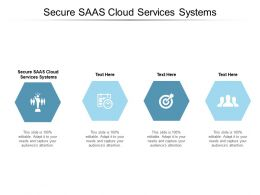 Secure Saas Cloud Services Systems Ppt Powerpoint Presentation Layouts Templates Cpb