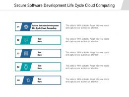 Secure Software Development Life Cycle Cloud Computing Ppt Powerpoint Presentationmodel Brochure Cpb