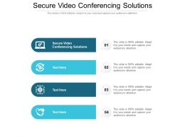 Secure Video Conferencing Solutions Ppt Powerpoint Presentation Gallery Picture Cpb