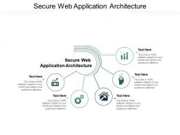 Secure Web Application Architecture Ppt Powerpoint Presentation Model Cpb