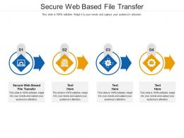 Secure Web Based File Transfer Ppt Powerpoint Presentation Outline Themes Cpb