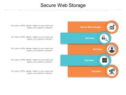 Secure Web Storage Ppt Powerpoint Presentation Summary Maker Cpb