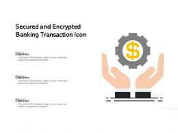 Secured And Encrypted Banking Transaction Icon
