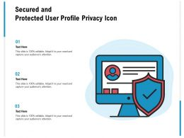 Secured And Protected User Profile Privacy Icon