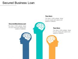 Secured Business Loan Ppt Powerpoint Presentation Icon Summary Cpb