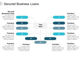 Secured Business Loans Ppt Powerpoint Presentation Icon Visual Aids Cpb
