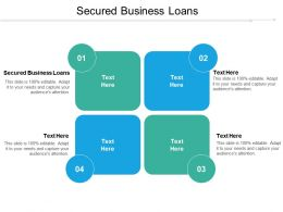 Secured Business Loans Ppt Powerpoint Presentation Infographic Template Infographics Cpb