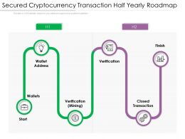 Secured Cryptocurrency Transaction Half Yearly Roadmap
