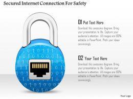Secured Internet Connection For Safety Ppt Slides