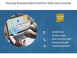 Securing Business Data Powerpoint Slide Deck Template