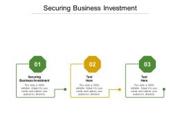 Securing Business Investment Ppt Powerpoint Presentation Pictures Background Designs Cpb