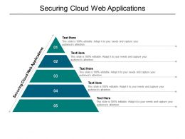Securing Cloud Web Applications Ppt Powerpoint Presentation Icon Templates Cpb