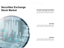 Securities Exchange Stock Market Ppt Powerpoint Presentation File Display Cpb
