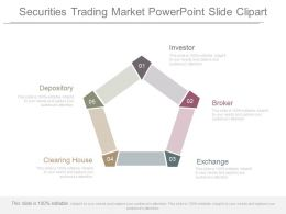 Securities Trading Market Powerpoint Slide Clipart