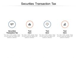 Securities Transaction Tax Ppt Powerpoint Presentation Icon Professional Cpb