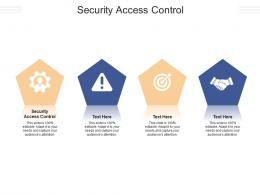 Security Access Control Ppt Powerpoint Presentation Portfolio Background Images Cpb