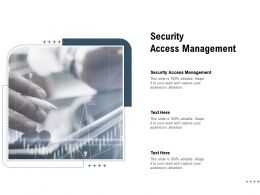 Security Access Management Ppt Powerpoint Presentation Inspiration Background Cpb