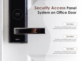 Security Access Panel System On Office Door
