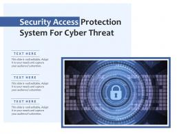 Security Access Protection System For Cyber Threat